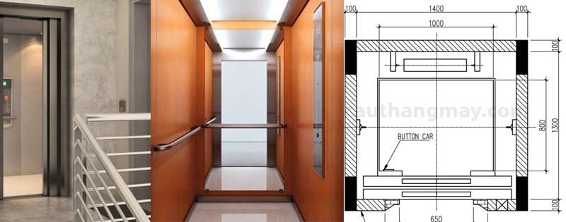 thang máy có kích thước nhỏ